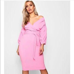 Boohoo off-shoulder dress